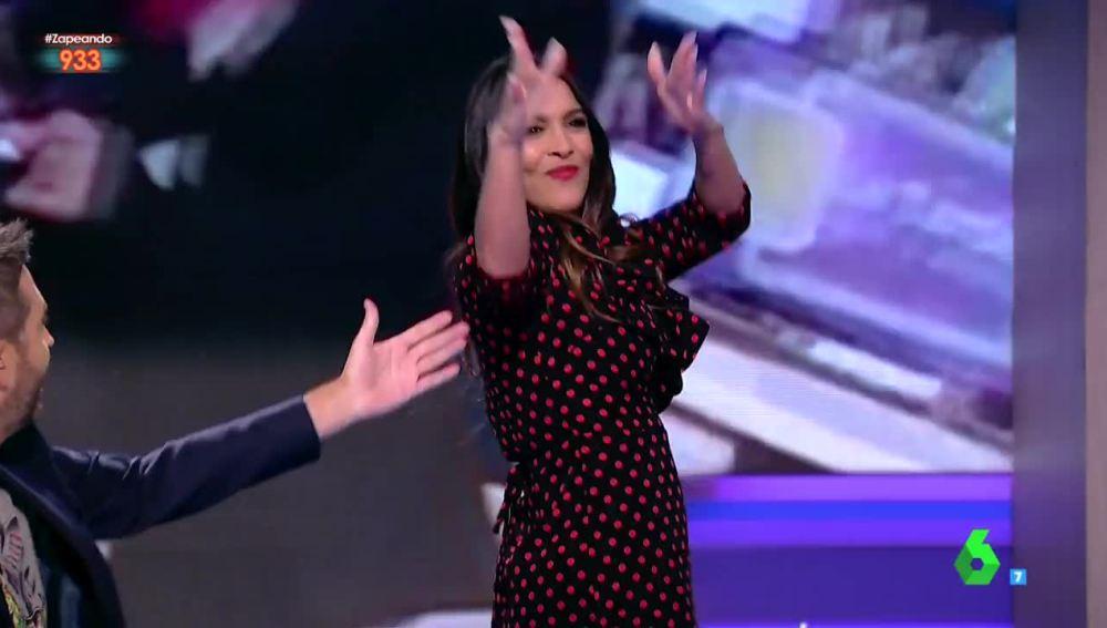 Lorena Castell bailando flamenco