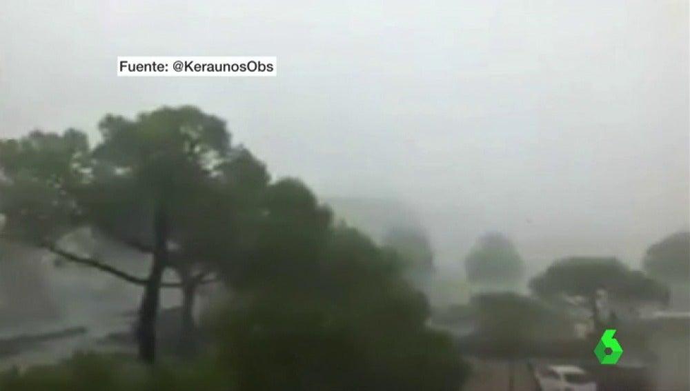El camping de Venecia afectado por la fuerte tormenta
