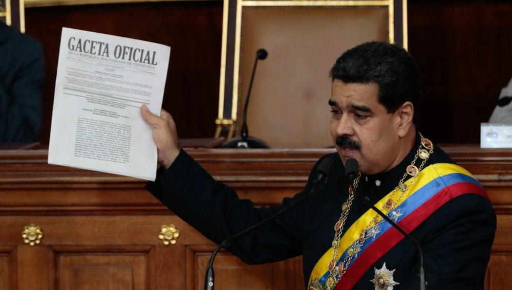 Maduro, en el estreno de la Constituyente