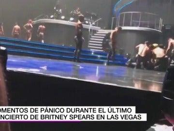 Un hombre armado irrumpe en el escenario durante un concierto de Britney Spears