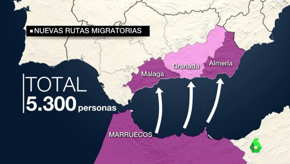 Las costas se convierten en el paso más común de los migrantes para atravesar la frontera de España