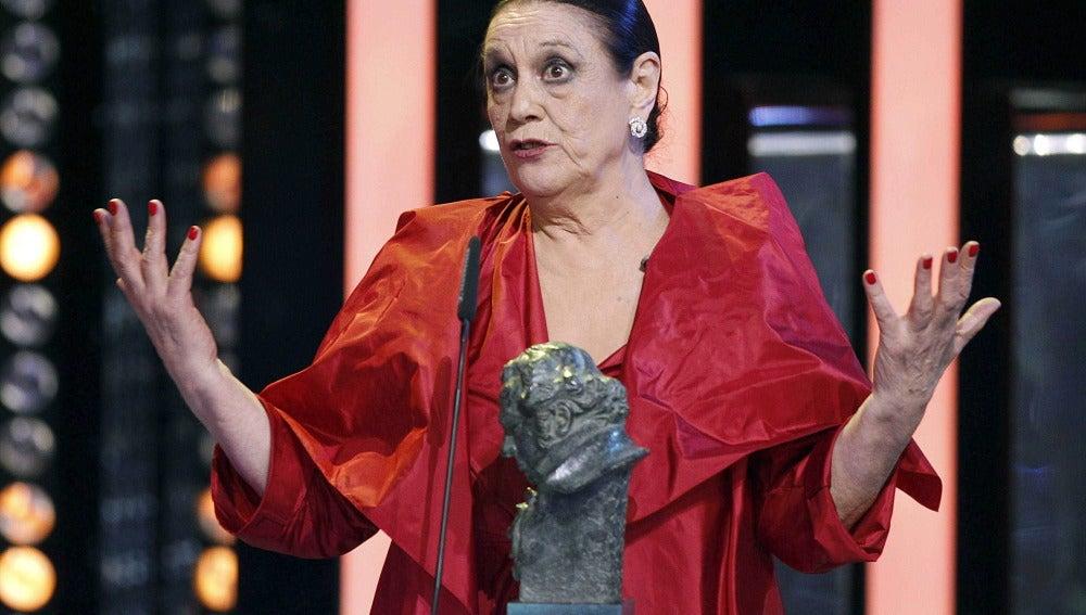 La actriz recibió un Goya por su papel en 'Las brujas de Zugarramurdi'
