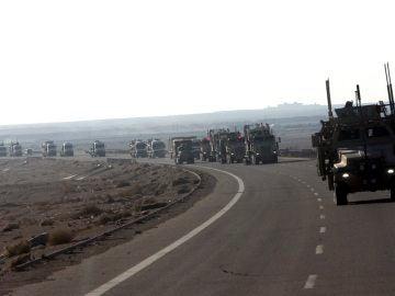Imagen de tropas de EEUU en la frontera entre Irak y Siria