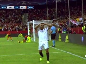 Ben Yedder sentenció al Istanbul Basaksehir con el 1-2 tras una gran jugada de Nolito