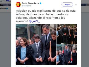 El polémico tuit de David Pérez sobre los atentados de Catalunya