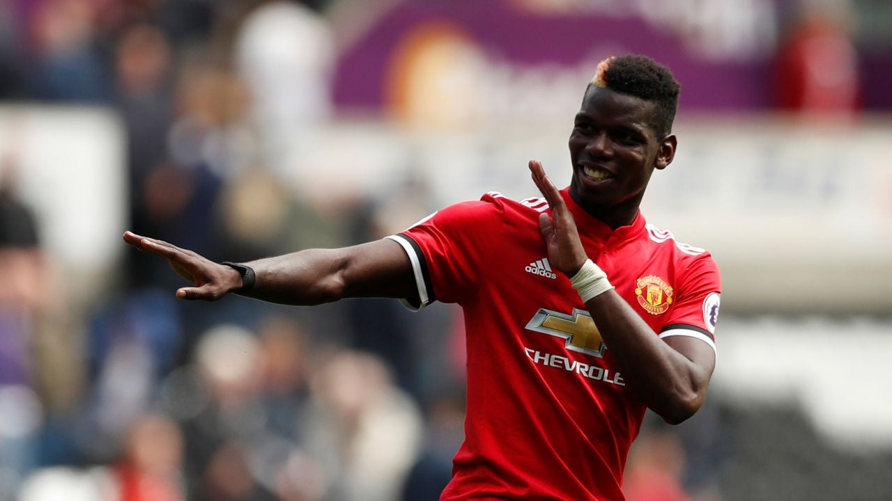 Pogba celebra un gol con el Manchester United