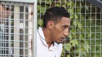 Driss Oukabir llegando a los juzgados
