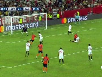 Visca puso el 2-2 ante el Sevilla con un fuerte disparo en el área