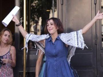 Juana Rivas a su salida del juzgado