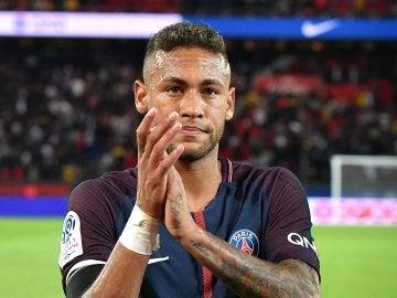 Neymar con el PSG