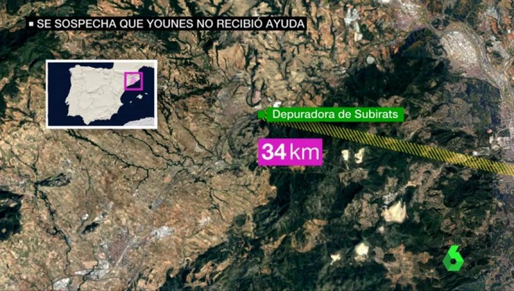 Posible recorrido de Younes Abouyaaqoub en Barcelona