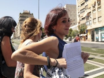 Juana Rivas tras ser puesta en libertad