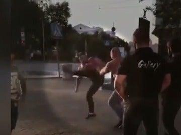 Momento de la pelea
