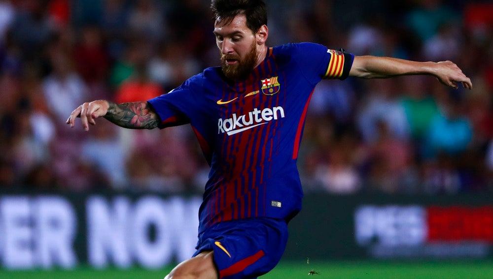Messi en el partido contra el Betis