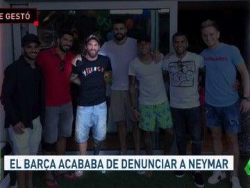 Así se gestó el reencuentro de los jugadores del Barça con Neymar