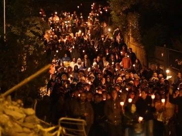 El centro de Italia recordó a las víctimas del terremoto de hace un año