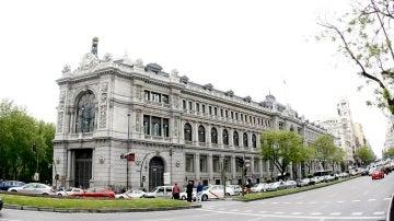 Vista de la fachada del Banco de España