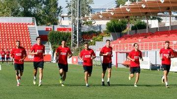 El Atlético, en un entrenamiento