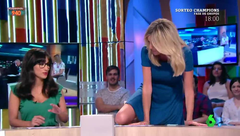 Anna Simon se sube a la mesa de Zapeando