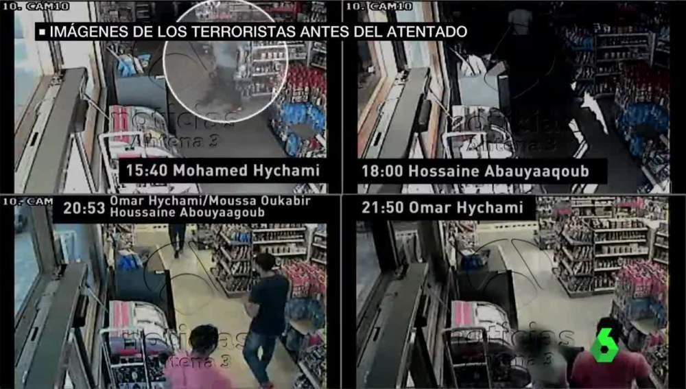 Imágenes de la gasolinera visitada por los terroristas antes de atentar