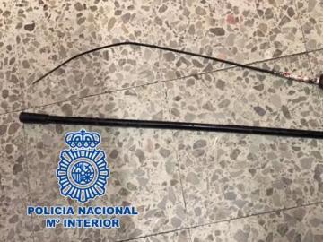 Este es el estoque presuntamente utilizado durante el conflicto