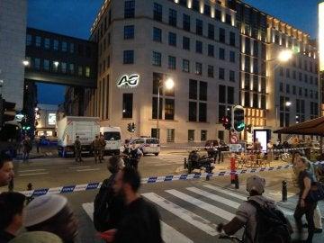 El centro de Bruselas acordonado