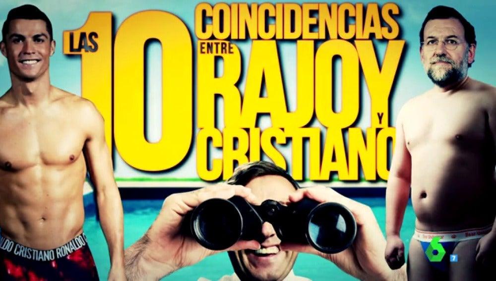 Cristiano Ronaldo, Rafael Hernando y Mariano Rajoy