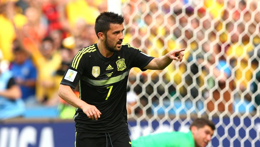 David Villa con la selección española