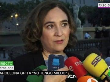 Ada Colau tras la manifestación en Barcelona
