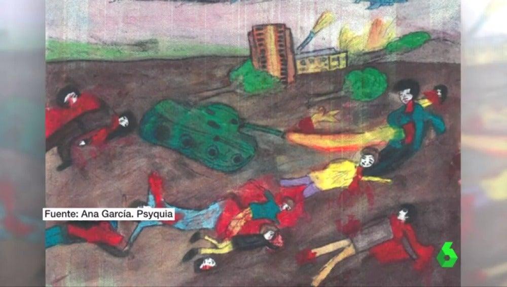 Así dibujan los niños la muerte y el horror de tragedias