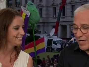 Andrea Levy con Xavier Sardá