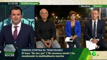 Iñaki López, Xavier Sardá, Hilario Pino y Cristina Villanueva