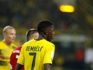 Dembele, con el Borussia Dortmund