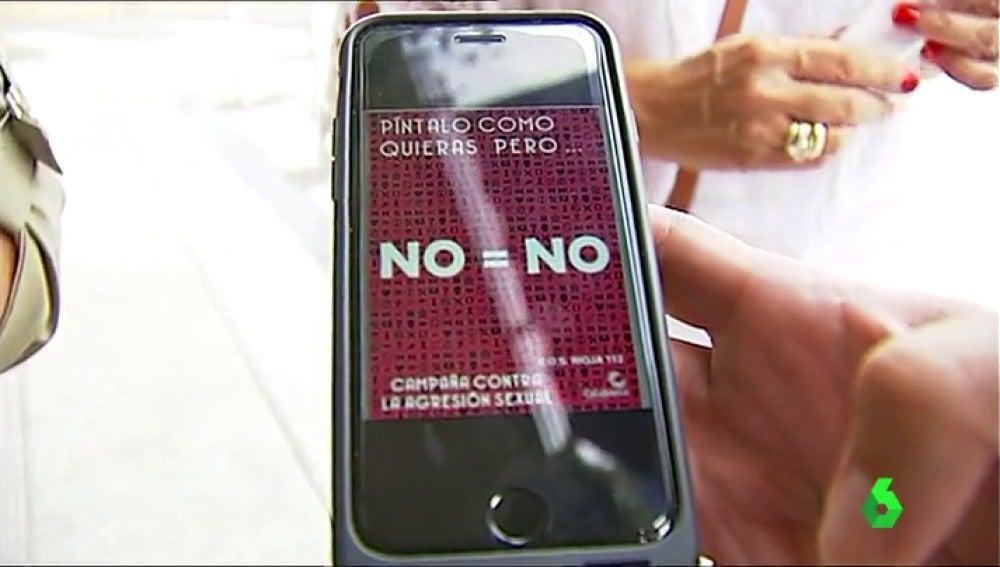 """""""No es no"""", el lema contra el acoso sexual"""
