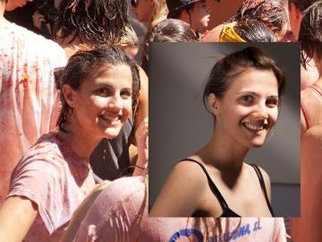 El montaje de Eva Casado con la chica de La Tomatina