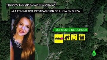 Lugar donde desapareció Lucia Cristo
