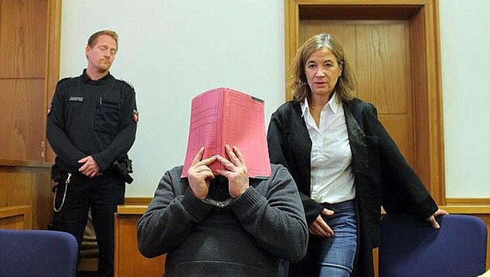 El enfermero alemán durante el juicio