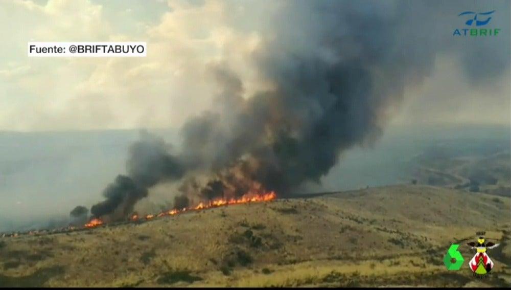 Incendio forestal en Zamora