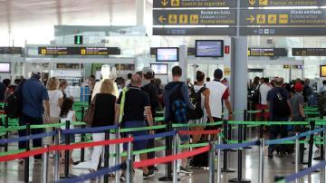 Vista del Aeropuerto de El Prat en Barcelona