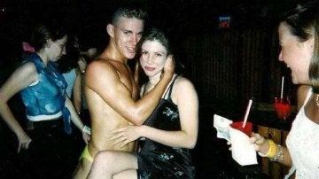 El actor Channing Tatum en uno de sus espectáculos como stripper