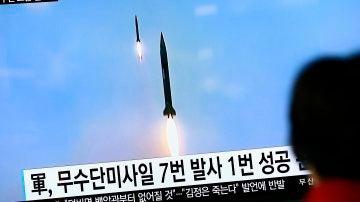 Imagen de archivo del lanzamiento de un misil