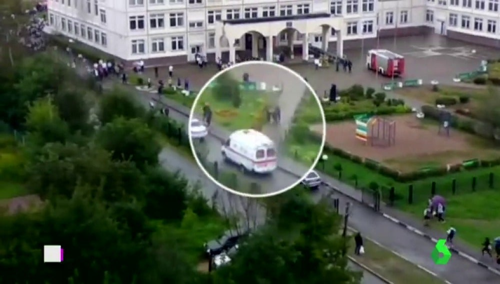 Detenido un joven tras herir con un hacha una profesora en un colegio en Rusia