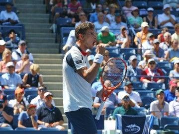 Pablo Carreño celebra un punto contra Schwartzman