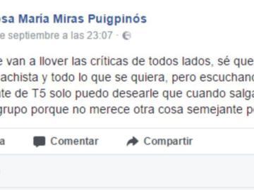 """Una mujer desea que """"violen"""" a Inés Arrimadas"""