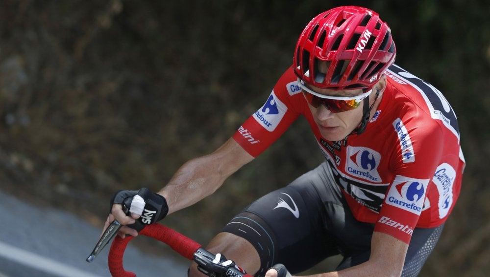 Chris Froome, durante una etapa de la Vuelta
