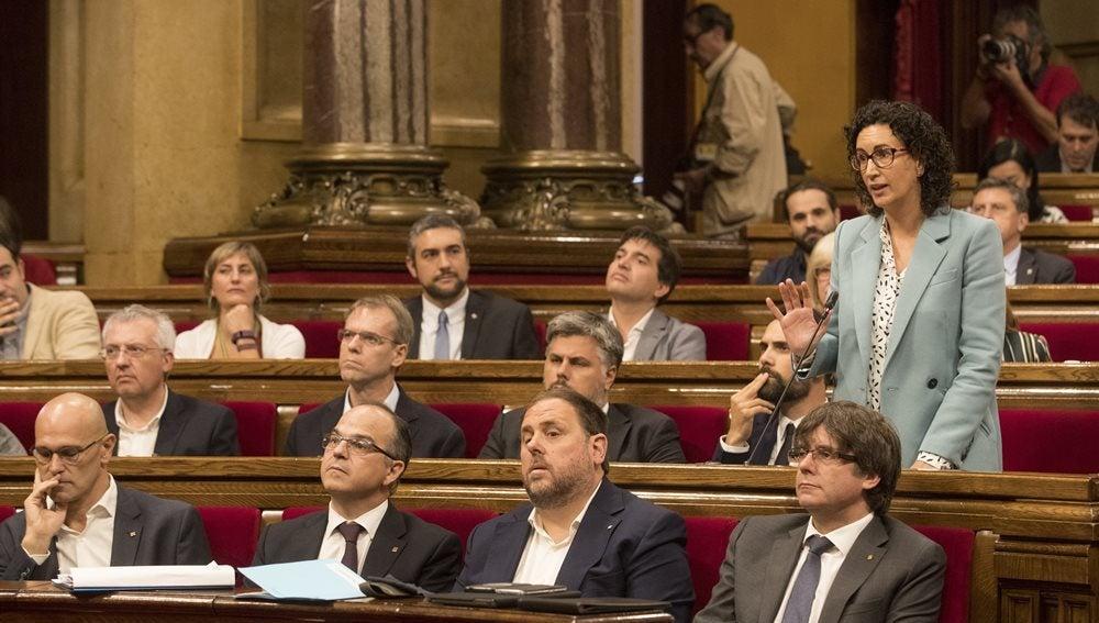 Marta Rovira, ERC, toma la palabra en el Parlament
