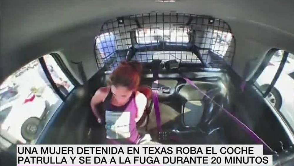 Una mujer se da a la fuga en Texas