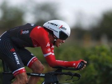 Alberto Contador, durante la crono de la Vuelta a España