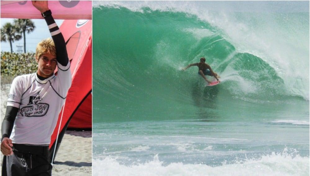 Zander Venezia, joven promesa del surf