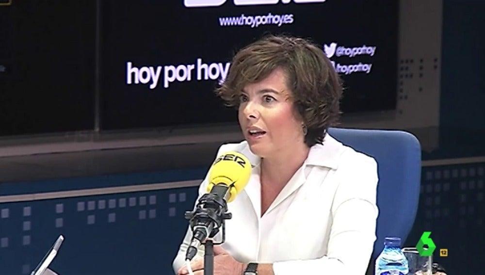 Soraya Sáenz de Santamaría en El Intermedio